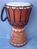 "Hand Carved 10"" Kids Drum (25CR)"
