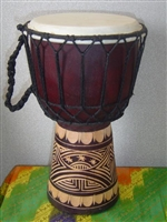 "Hand Carved 12"" Kids Drum (30CR)"