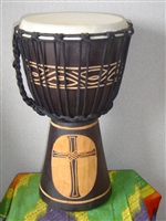 "Small Traveler Djembe Drum 16"" x 9""- CROSS - (40M2)"