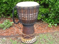 "Small Traveler Djembe Drum 16"" x 9""- (40M4)"