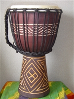 "Small Traveler Djembe Drum 16"" x 9""- (40M5)"