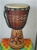 "Small Traveler Djembe Drum 16"" x 9""- YIN & YANG - (40M6)"