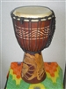 "Small Traveler Djembe Drum 16"" x 9""- DRAGON - (40M7)"