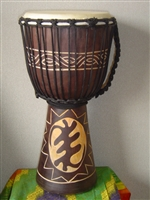 "Medium Djembe Drum 20"" x 11"" ~ GOD FIRST (GYE NYAME) - 50m12"