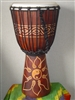 "Medium Djembe Drum 20"" x 11"" ~ YIN & YANG - 50m19"