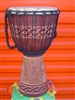 "Pro Series Djembe 24"" x 14"" - WAVE CARVING - Model # 60M12"