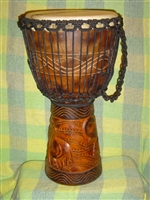 "3 RING PRO Series Djembe Drum 24"" x 14"" - ELEPHANT - Model # 60M18"