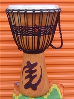 "Pro Series Djembe 24"" x 14"" - GOD FIRST (GYE NYAME) Model # 60M8"