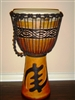 "3 RING PRO Series Djembe Drum 24"" x 14"" - GOD FIRST/GYE NYAME - Model # 60M8"
