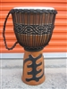 "3 RING PRO Series XL Djembe Drum 26"" x 15"" - GOD FIRST/GYE NYAME (65m2)"
