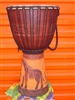 "XL Pro Series Djembe 26"" x 15"" - GIRAFFE - Model # 65m5"