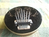 Karimba Mbira Coconut Shell Thumb Finger Piano Kalimba ~ Black