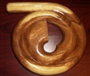 TRAVEL SNAIL/SPIRAL DIDGERIDOO HAND-CARVED WOODEN